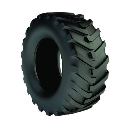 Isolated 3d tractor tyre